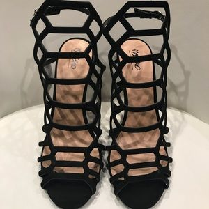Mossimo Black Gladiator Caged Sandal